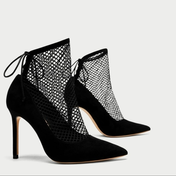 542200d9938ba  Zara  Black High Heel Fishnet Ankle Boots